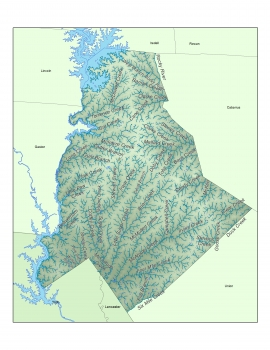 (Click for zoomable image.) Mecklenburg's creeks. Map: Garrett Nelson
