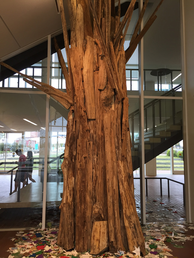 Charlie Brouwer's life-sized tree.