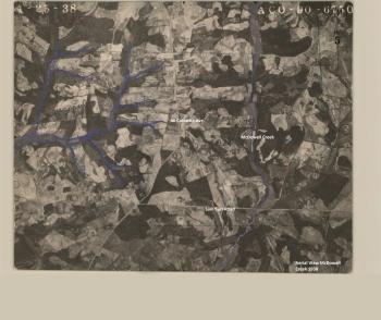 A 1938 map shows McDowell Creek, before Lake Norman or Mountain Island Lake.