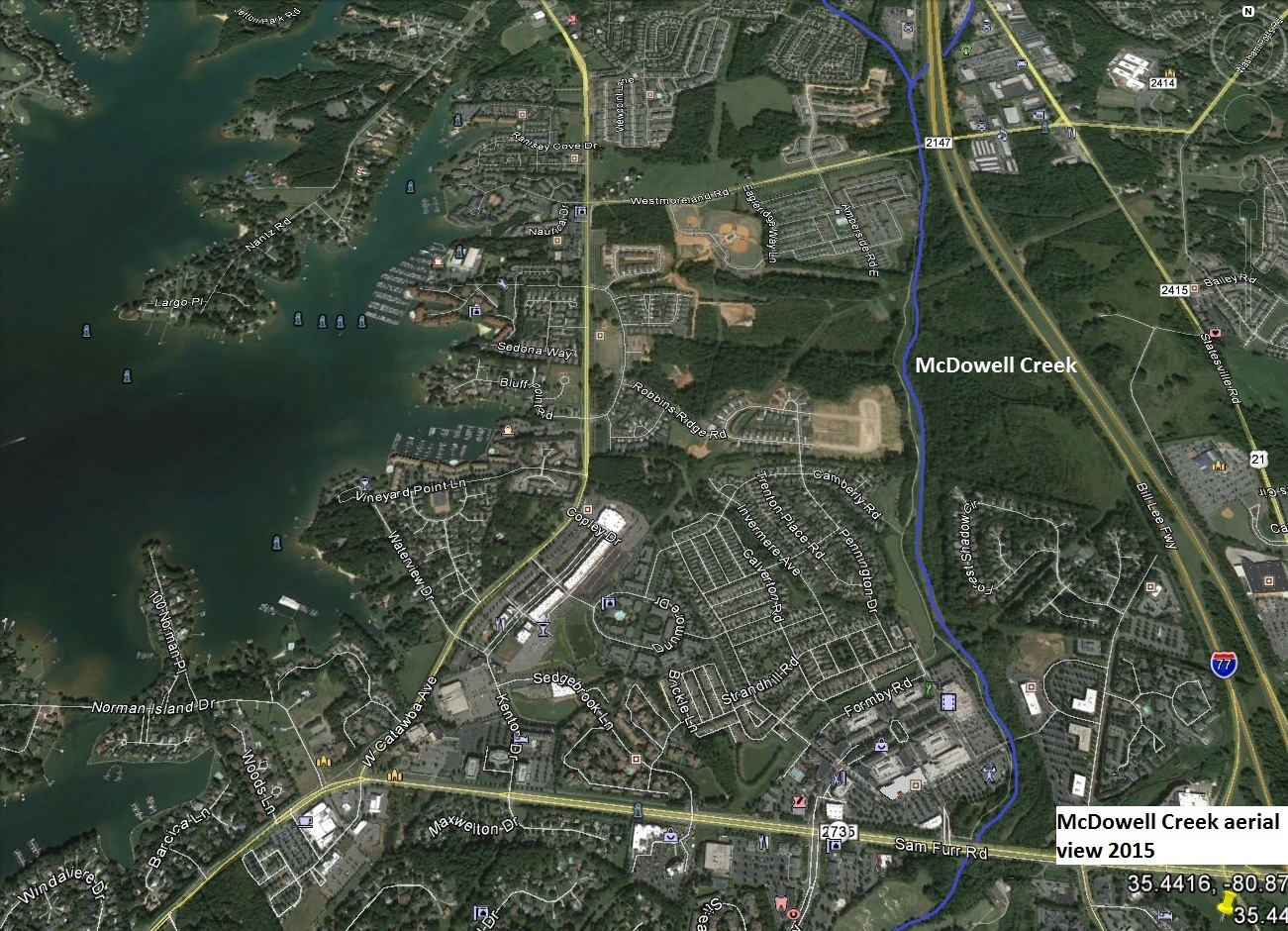 This Google maps image shows the massive development in the same area.